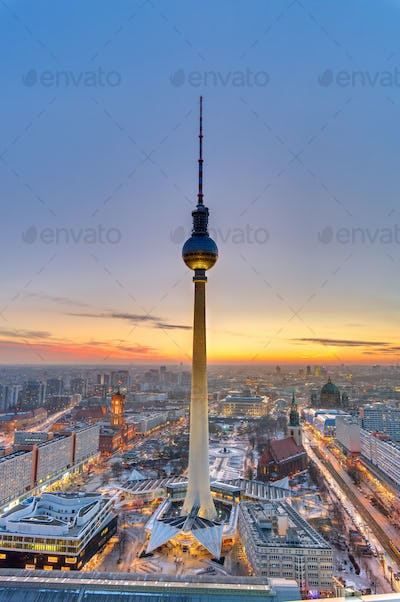 Sunset in the heart of Berlin