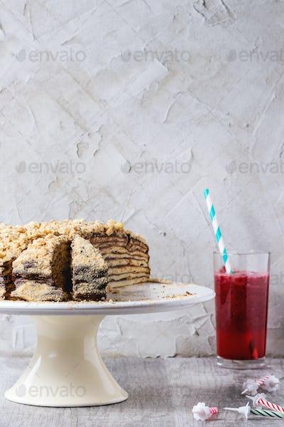 Homemade Birthday Honey Cake