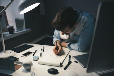Designer at work in office
