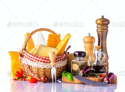 Gouda, Swiss, Morbier Cheese and Seasoning