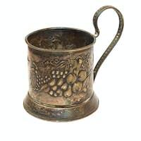 antique silver glass holder