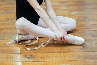 Ballerina having pain in ankle
