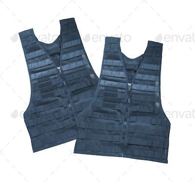 Bulletproof vest. Isolated on white.