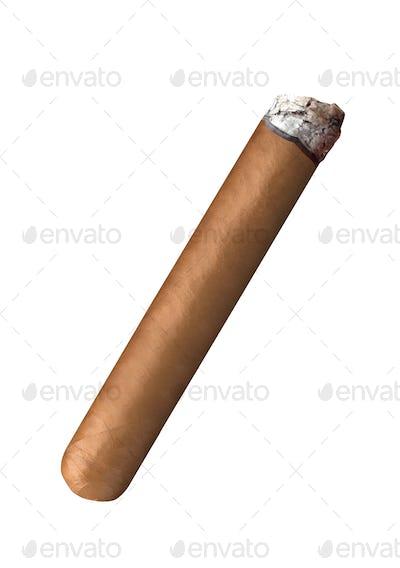 Smoking havana cigar
