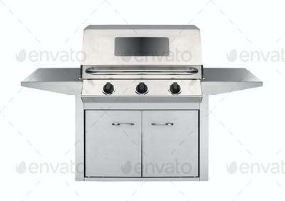 Stainless steel gas cooker with oven