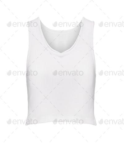 white shirt isolated on white