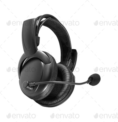 A Pair of Headphones isolated on white