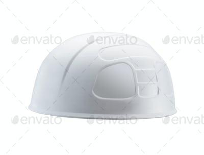 Plastic safety helmet