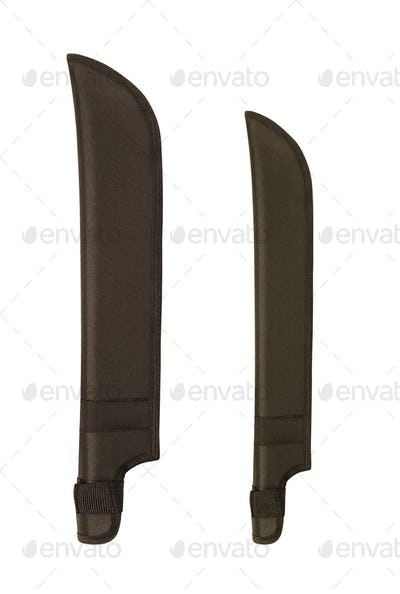 knife cases on white backgroun