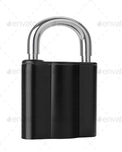 black Lock isolated on white
