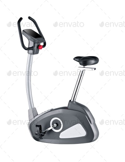 gym bike isolated on white