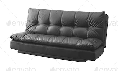 violet modern sofa isolated on white background