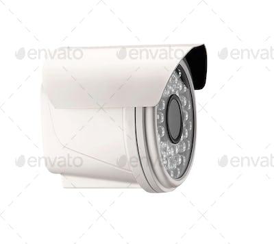 spy camera isolated on white