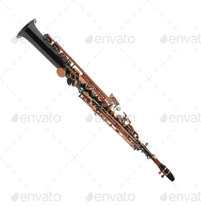 Clarinet isolated on a white background