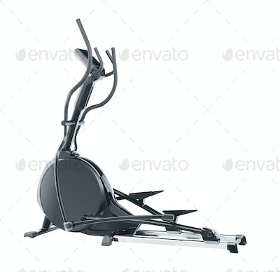 elliptical cross trainer isolated on white background