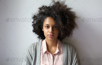 Beautiful young woman with afro hairstyle