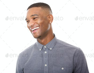 Handsome young black man laughing