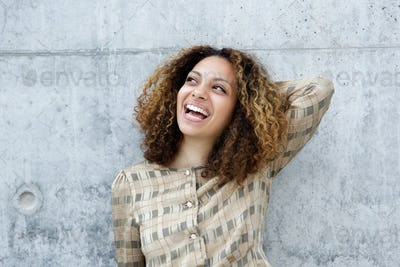 Portrait of a joyful young woman