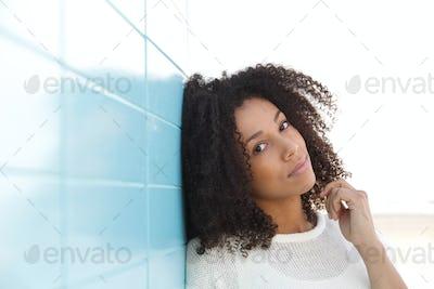 Beautiful young mixed race woman