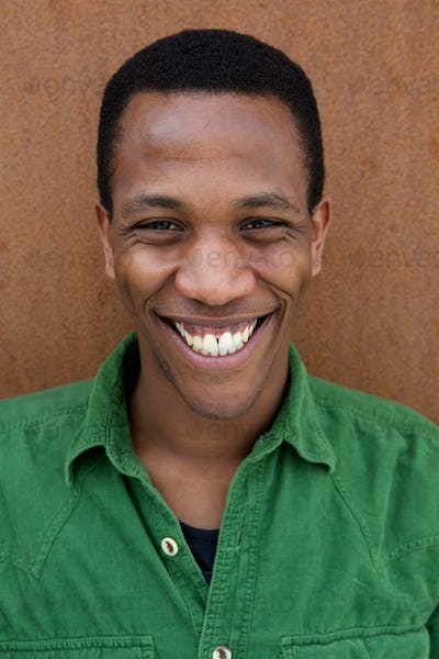Smiling young african man