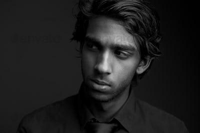 Portrait of a man looking away