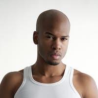 Portrait of a handsome black man