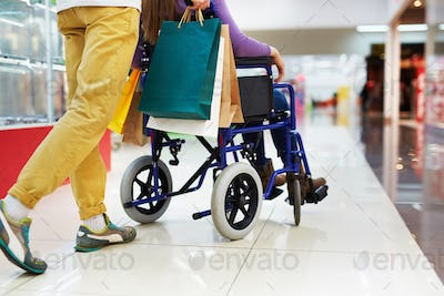 Shopping with disable girlfriend