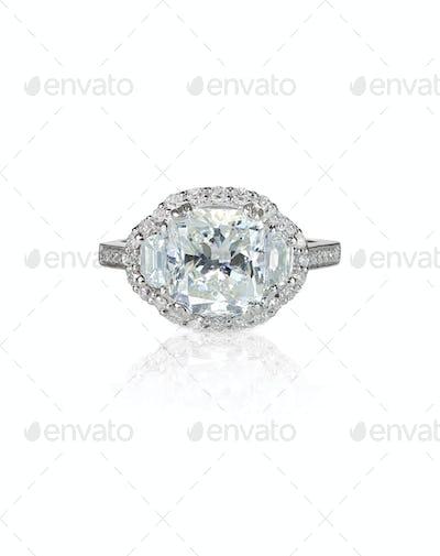 Antique Diamond Wedding band engagement ring