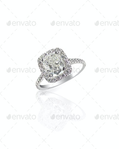 Huge giant cushion cut carat sparkling diamond wedding engagement ring