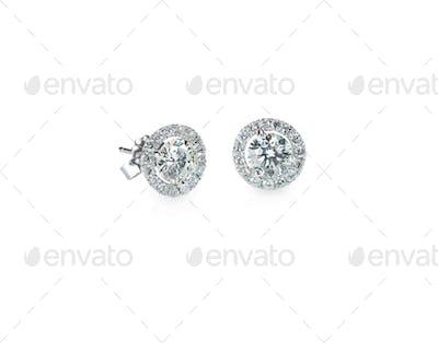 Beautiful Halo Diamond Stud earrings
