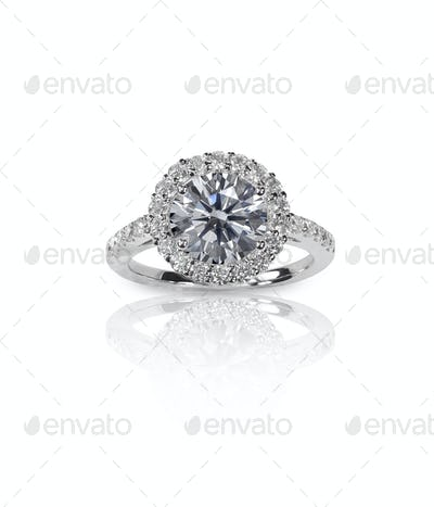 Beautiful Diamond Wedding band engagement ring