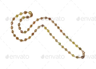 Raw Brown and Yellow gemstone beaded necklace