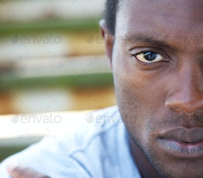 Half face portrait of an african american man