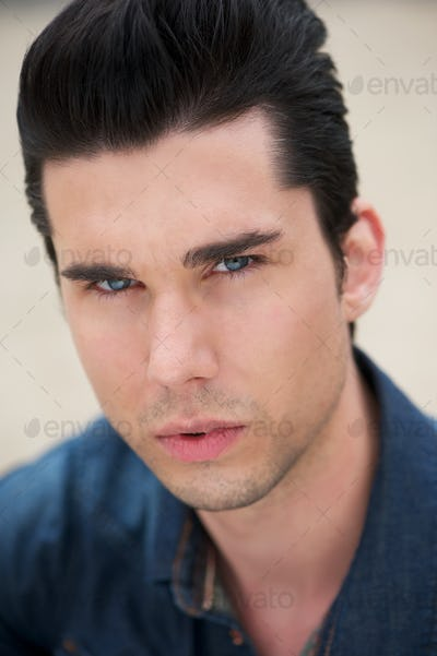 Portrait of a male fashion model
