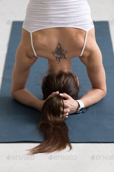 Yoga Salamba Sirshasana, Closeup