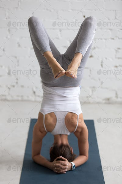 Yoga Indoors: variation of Supported Headstand