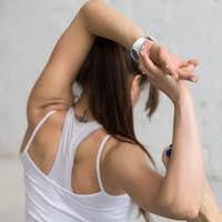 Yoga Indoors: Mermaid Pose, close-up
