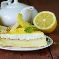 Piece Of Lemon Cake Tart