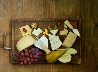 Cheeseboard With Assorted Cheeses