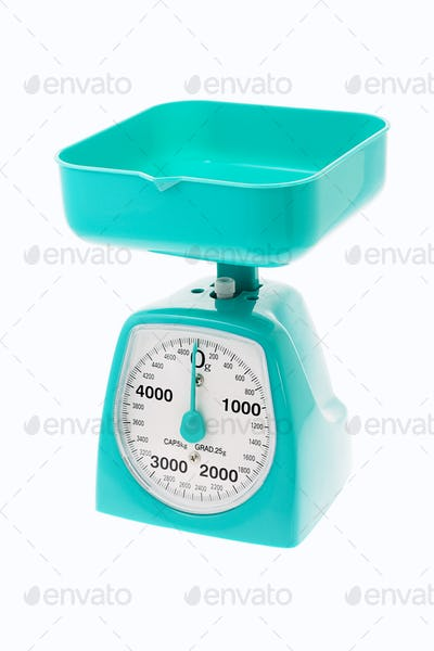 Plastic kitchen scale