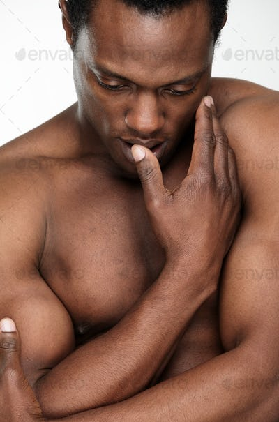 Handsome African American Man Undressed