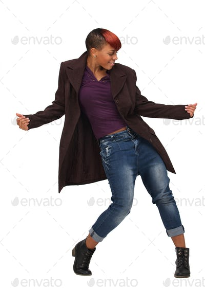 African American Woman Dancing to the Music