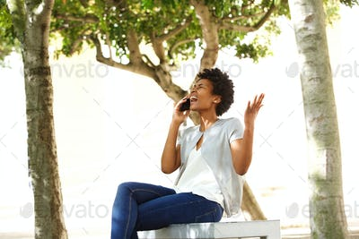 Frustrated woman answering a phone call
