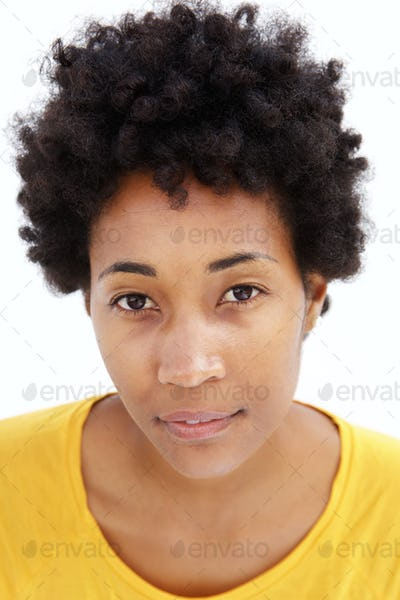 Face of a young african woman
