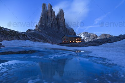 Vajolet Towers in Dolomites