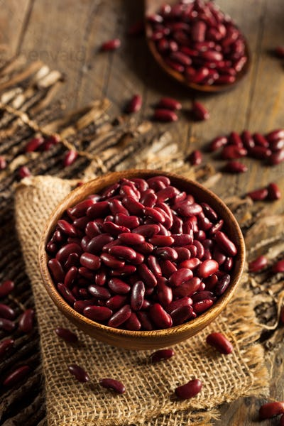 Raw Red Organic Kidney Beans
