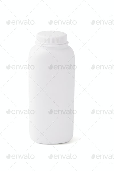 Blank talcum powder container