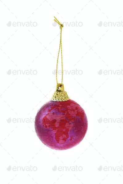 Christmas globe ornament