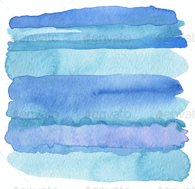 Abstract watercolor strip painted background. Texture paper.