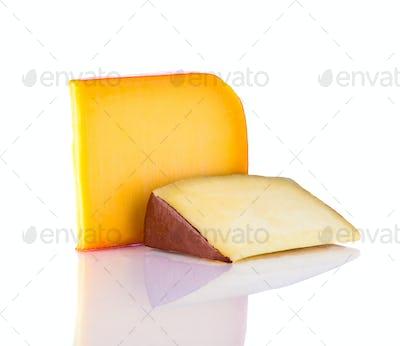 Gouda Cheese on White Background